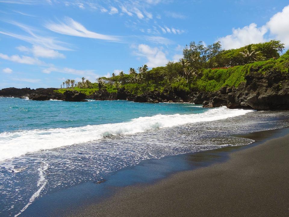 plage de savle noir, maui hawaii