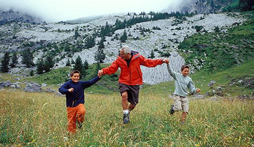 voyager avec ses petits enfants sans souci