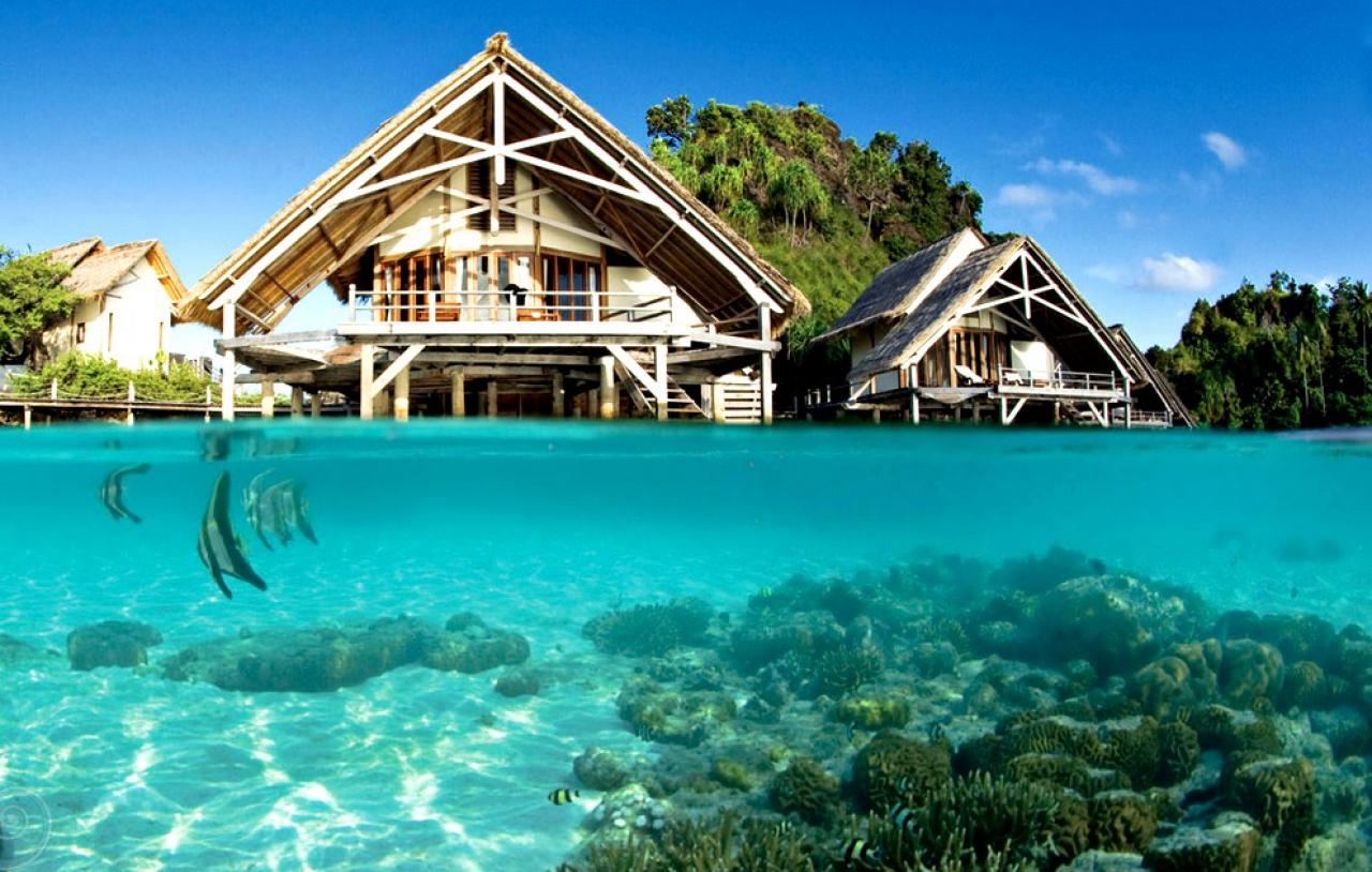 hotel paradisiaque en indonesie