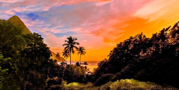 sainte lucie coucher de soleil