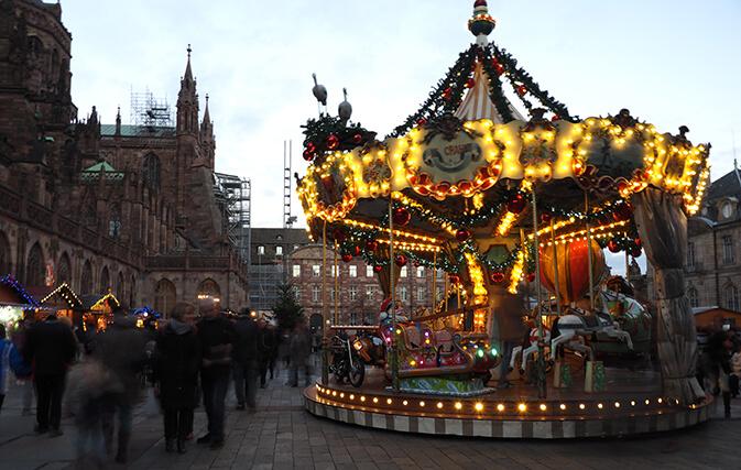 Marché de noël de Strasbourg avant le drame