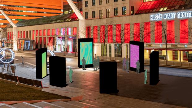 Montréal: le Quartier des spectacles offre une nouvelle animation lumineuse et sonore