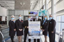 Air Transat inaugure son premier vol direct entre Québec et Vancouver