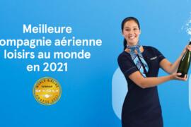 Skytrax décerne à Air Transat le titre de meilleure compagnie aérienne de loisirs au monde